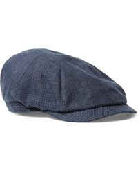 Brunello Cucinelli - Prince Of Wales Checked Linen Flat Cap - Lyst