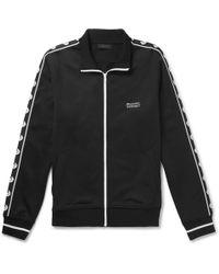 Belstaff - Sophnet Wensley Printed Cotton-blend Jersey Zip-up Sweatshirt - Lyst