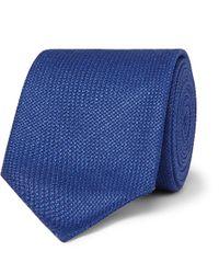BOSS - 6cm Virgin Wool, Silk And Linen-blend Tie - Lyst