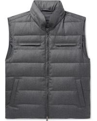 Thom Sweeney - Quilted Wool Hooded Down Gilet - Lyst
