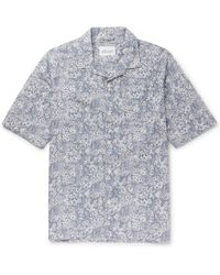 Albam - Camp-collar Floral-print Cotton Shirt - Lyst