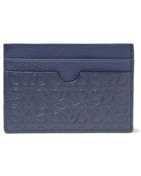 Loewe - Puzzle Embossed Leather Cardholder - Lyst