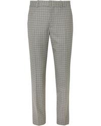 Rag & Bone - Patrick Checked Wool And Cotton-blend Trousers - Lyst