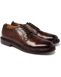 Officine Creative - Stanford Polished-leather Derby Shoes - Lyst