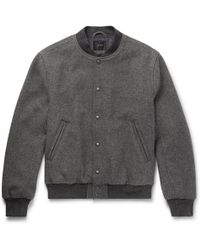 J.Crew | Stadium Wool-blend Bomber Jacket | Lyst