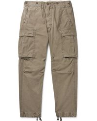 RRL - Slim-fit Tapered Washed-cotton Cargo Trousers - Lyst