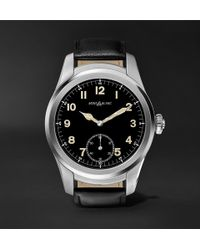 Montblanc - Summit 46mm Stainless Steel And Leather Smart Watch - Lyst