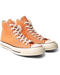 Converse - 1970s Chuck Taylor All Stars Canvas High-top Trainers - Lyst
