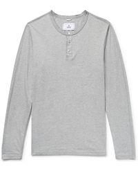 Reigning Champ - Mélange Ring-spun Cotton-jersey Henley T-shirt - Lyst