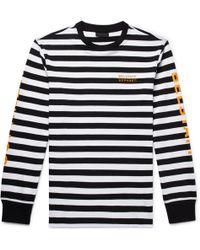 Belstaff - + Sophnet Slim-fit Logo-print Striped Cotton-jersey T-shirt - Lyst