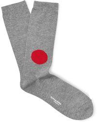 Blue Blue Japan | Intarsia Cotton-blend Socks | Lyst