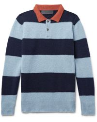 The Elder Statesman - Slim-fit Striped Cashmere Sweater - Lyst