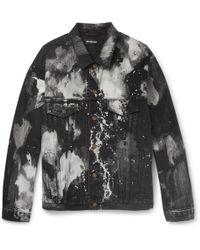 Balenciaga - Paint Stain Denim Jacket - Lyst