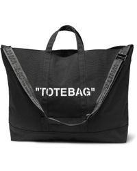 Off-White c/o Virgil Abloh - Printed Canvas Tote Bag - Lyst
