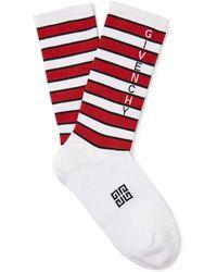 Givenchy - Logo-intarsia Stretch Striped Cotton-blend Socks - Lyst