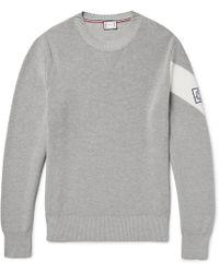 Moncler Gamme Bleu | Chevron Cotton Sweater | Lyst