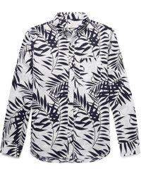Club Monaco - Slim-fit Button-down Collar Printed Linen Shirt - Lyst