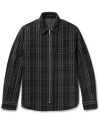 Theory - Slim-fit Reversible Wool-blend Shirt Jacket - Lyst
