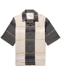 Acne Studios - Camp-collar Checked Cotton-blend Shirt - Lyst