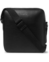 Ermenegildo Zegna - Cross-grain Leather Messenger Bag - Lyst
