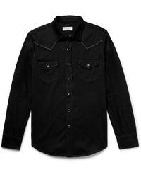 Saint Laurent - Embroidered Western Shirt - Lyst