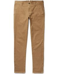 Incotex - Slim-fit Textured Stretch-cotton Trousers - Lyst