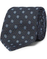 Dunhill - 8cm Mulberry Silk-jacquard Tie - Lyst