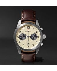 Bremont | Alt1-classic/cr Automatic Chronograph 43mm Stainless Steel And Leather Watch | Lyst