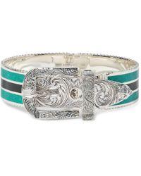 Gucci - Garden Sterling Silver And Enamel Bracelet - Lyst