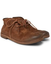 Marsèll - Washed-suede Chukka Boots - Lyst