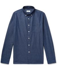 Saturdays NYC - Button-down Collar Cotton-chambray Shirt - Lyst