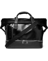 69e9968a4b Givenchy - Jaw-textured Coated-canvas And Full-grain Leather Holdall - Lyst