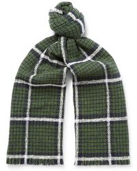 MR P. - Checked Double-faced Wool-blend Scarf - Lyst