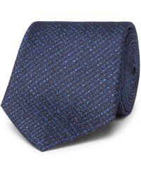 Canali - 8cm Basketweave Silk Tie - Lyst