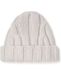 6217fdc5665 Lyst - Drake s Ribbed Donegal Merino Wool Beanie in Gray for Men
