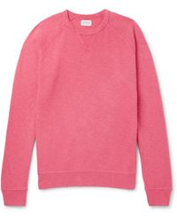 Hartford - Mélange Loopback Cotton-jersey Sweatshirt - Lyst