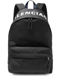Balenciaga - Logo-embroidered Canvas Backpack - Lyst