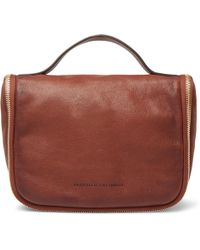 Brunello Cucinelli - Burnished Full-grain Leather Wash Bag - Lyst