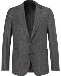 Paul Smith - Dark-grey Soho Slim-fit Mélange Wool And Silk-blend Suit Jacket - Lyst