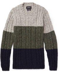 Howlin' By Morrison - Little Larry Colour-block Wool Sweater - Lyst