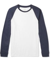 J.Crew | Two-tone Slub Cotton-jersey T-shirt | Lyst
