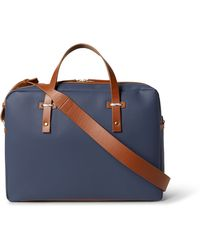 Miansai - Leather-trimmed Coated-canvas Briefcase - Lyst