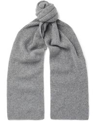 Anderson & Sheppard - Ribbed Cashmere Scarf - Lyst