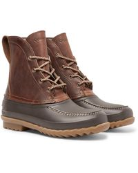 Quoddy Field Waterproof Leather And Eva Boots - Brown