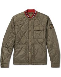 Belstaff - Haverford Stripe-trimmed Quilted Shell Bomber Jacket - Lyst