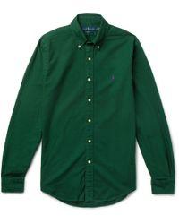 Polo Ralph Lauren - Slim-fit Button-down Collar Garment-dyed Cotton Oxford Shirt - Lyst