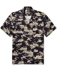 Freemans Sporting Club - Camp-collar Printed Woven Shirt - Lyst