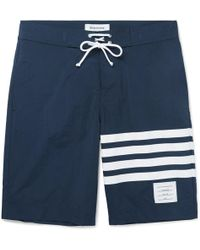 Thom Browne - Long-length Striped Swim Shorts - Lyst