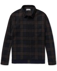 John Elliott - Slim-fit Checked Wool-blend Flannel Overshirt - Lyst