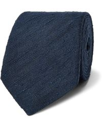 Richard James - - 6cm Embroidered Knitted Silk Tie - Midnight Blue - Lyst